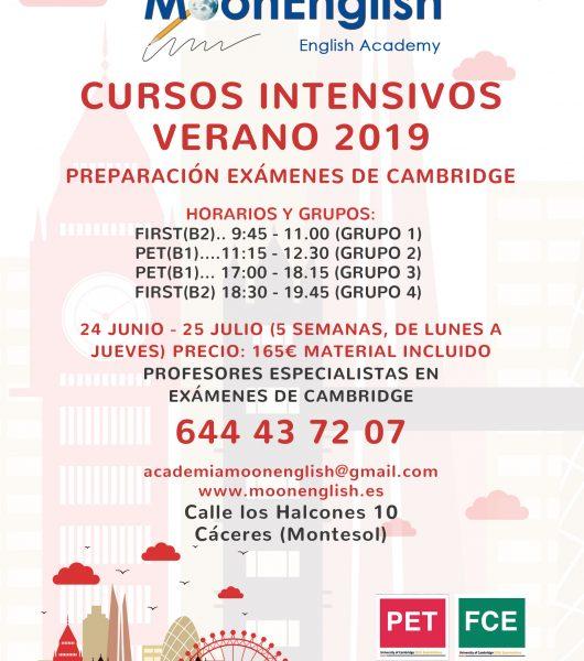 CURSOS INTENSIVOS VERANO 2019